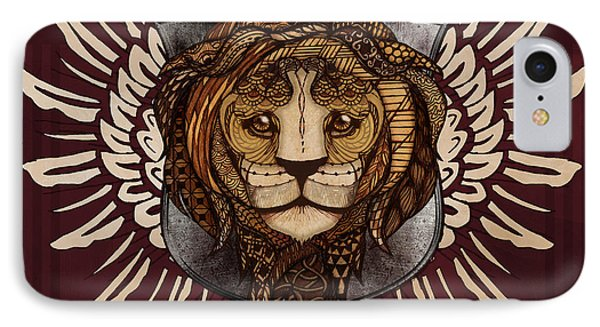 The King's Heraldry IPhone Case by April Moen