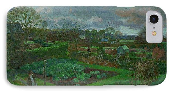 The Kitchen Garden In Autumn IPhone Case by Stephen Harris