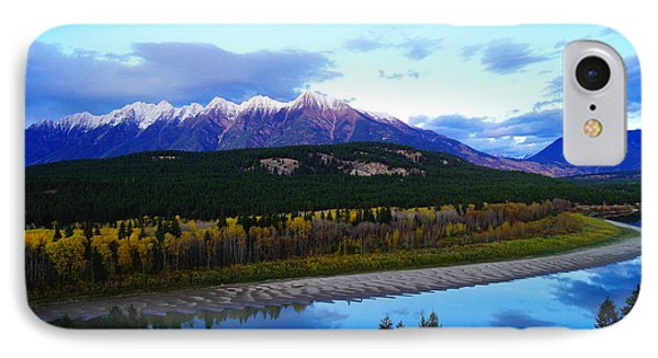 The Kootenenai River Surrounding The Canadian Rockies   Phone Case by Jeff Swan