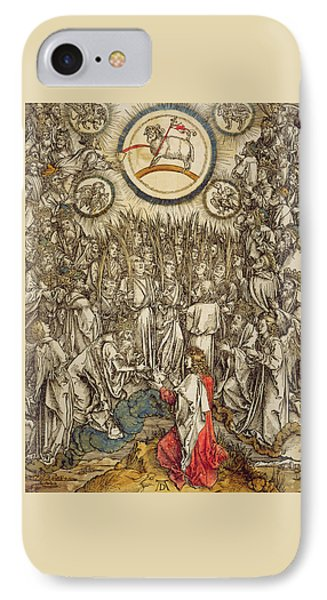 The Lamb Of God Appears On Mount Sion, 1498  IPhone Case by Albrecht Durer or Duerer