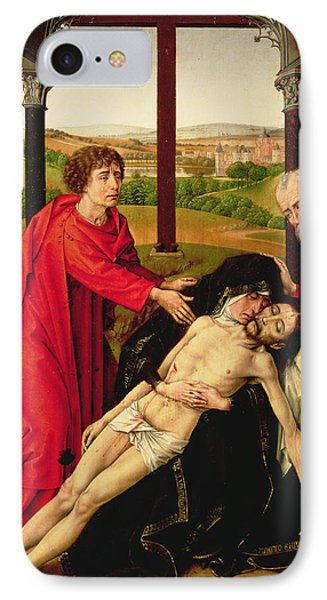 The Lamentation Of Christ IPhone Case by Rogier van der Weyden
