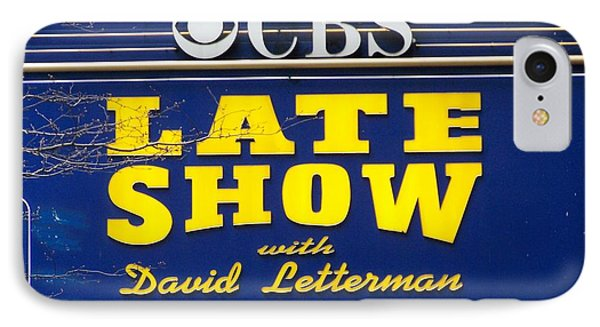 The Late Show With David Letterman IPhone Case by Kenneth Summers