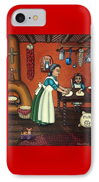 The Lesson Or Making Tortillas IPhone Case by Victoria De Almeida