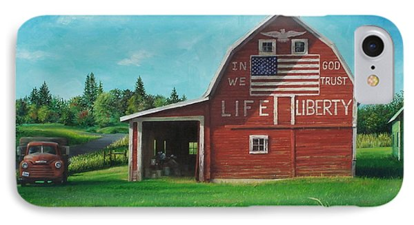 The Liberty Barn IPhone Case by Craig Shillam