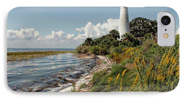 The Lighthouse At St. Marks Phone Case by Lynn Jordan