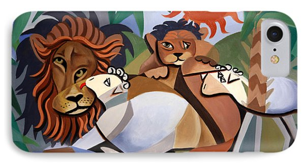 The Lion And The Lamb Phone Case by Anthony Falbo