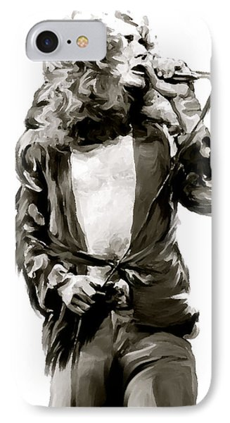 The Lion  Robert Plant IPhone 7 Case by Iconic Images Art Gallery David Pucciarelli