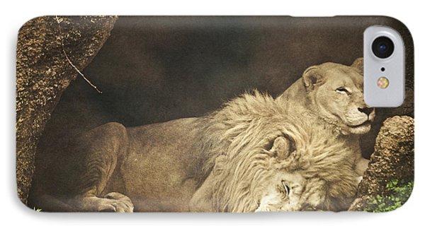 The Lion Sleeps Tonight Phone Case by Trish Tritz