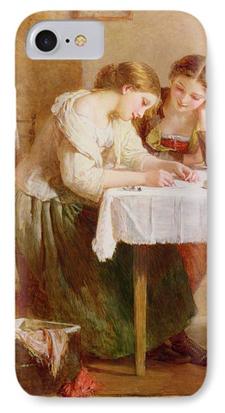 The Love Letter, 1871 IPhone Case by Henry Le Jeune