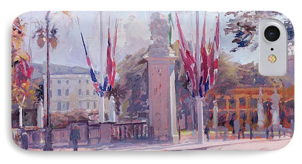 The Mall Oil On Canvas IPhone Case by Sarah Butterfield