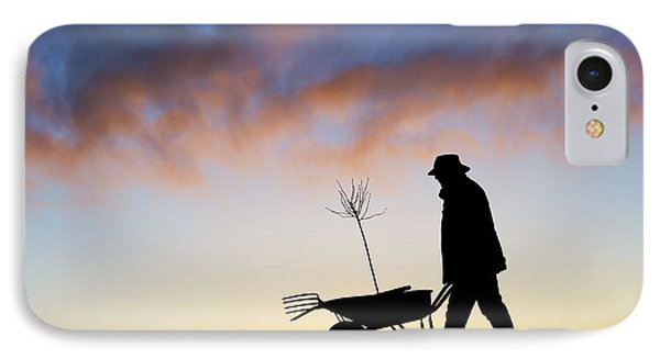 The Man Who Plants Trees IPhone Case by Tim Gainey