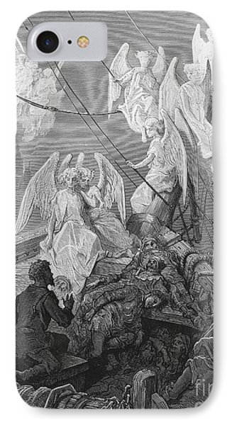The Mariner Sees The Band Of Angelic Spirits IPhone Case by Gustave Dore