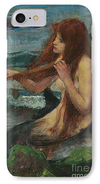 The Mermaid IPhone 7 Case by John William Waterhouse