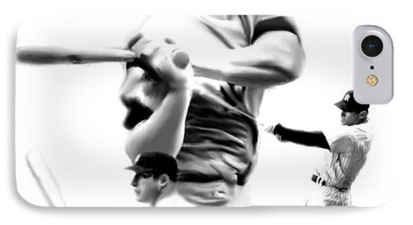 The Mick  Mickey Mantle IPhone 7 Case by Iconic Images Art Gallery David Pucciarelli
