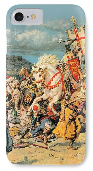 The Mighty King Of Chivalry Richard The Lionheart Phone Case by Fortunino Matania