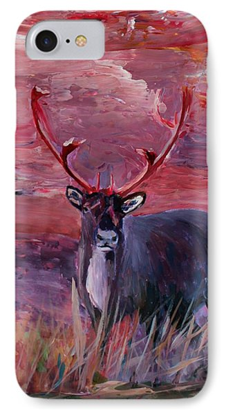 The Mighty Moose Mongoose Reindeer Elk Rentier Caribou Phone Case by M Bleichner