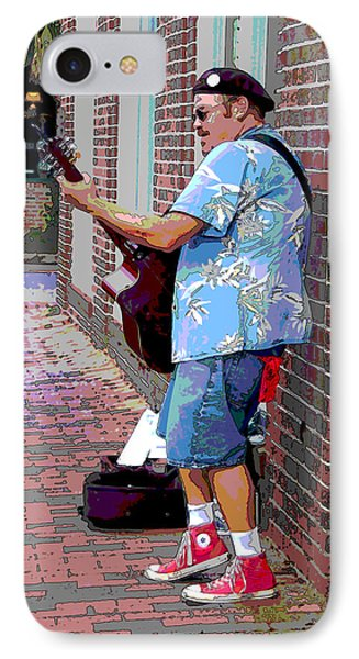 The Music Man And His Red Shoes Phone Case by Suzanne Gaff