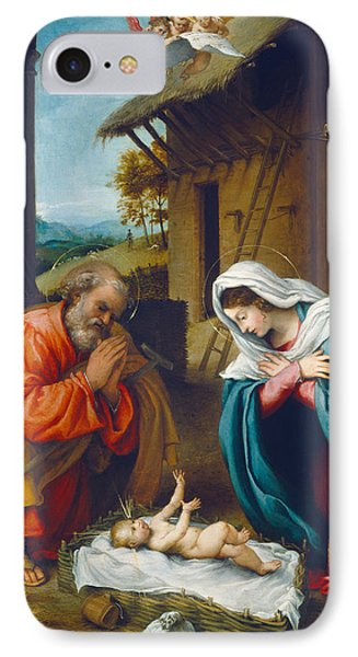 The Nativity 1523 IPhone Case by Lorenzo Lotto