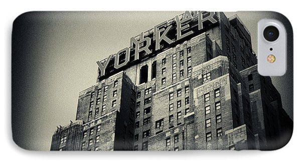 The New Yorker Hotel New York City IPhone Case by Sabine Jacobs