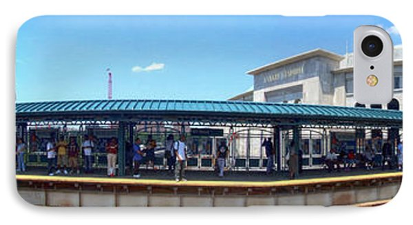 The Old And New Yankee Stadiums Panorama IPhone Case by Nishanth Gopinathan