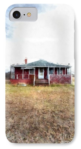 The Old Beach Cottage IPhone Case by Edward Fielding