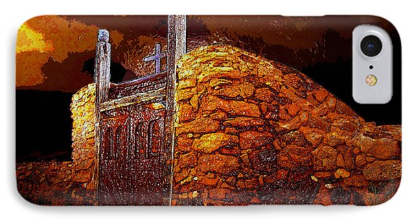 The Old Gates Of Galisteo Phone Case by David Lee Thompson