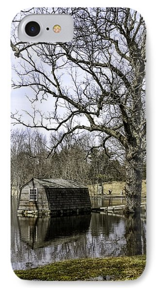 The Old Manse Boathouse IPhone Case by Betty Denise