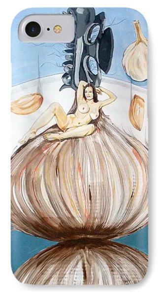 The Onion Maiden And Her Hair La Doncella Cebolla Y Su Cabello Phone Case by Lazaro Hurtado