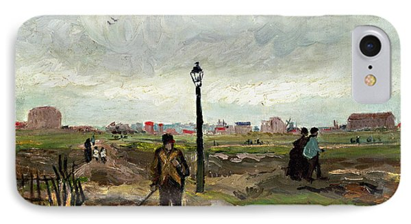 The Outskirts Of Paris IPhone Case by Vincent van Gogh