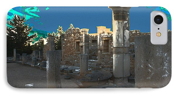 The Palaestra -temple Of Apollo Phone Case by Augusta Stylianou