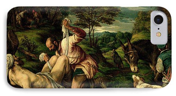 The Parable Of The Good Samaritan IPhone Case by Francesco Bassano
