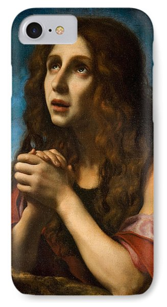 The Penitent Magdalen IPhone Case by Carlo Dolci