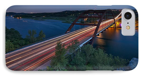 The Pennybacker Bridge At Twilight IPhone Case by Tim Stanley