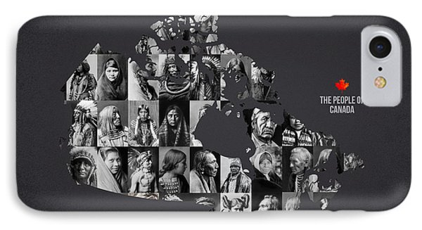 The People Of Canada Phone Case by Aged Pixel