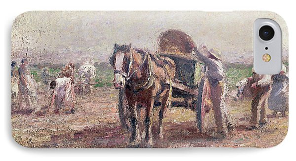 The Potato Pickers IPhone 7 Case by Harry Fidler