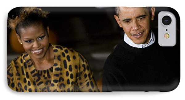 The President And First Lady IPhone Case by JP Tripp