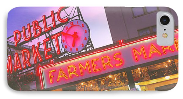 The Public Market Seattle Wa Usa IPhone Case by Panoramic Images