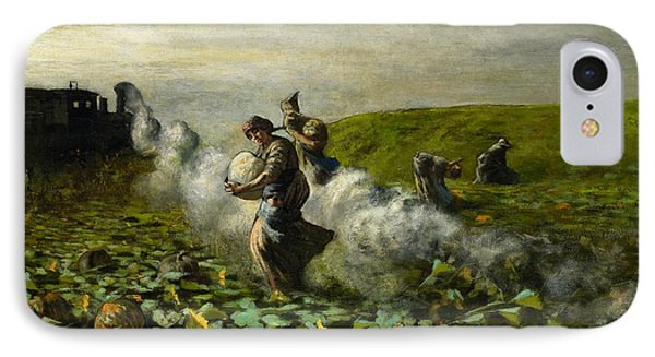 The Pumpkin Harvest Phone Case by Giovanni Segantini