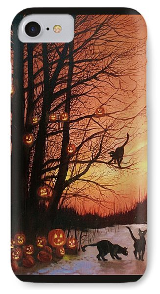 The Pumpkin Tree IPhone Case by Tom Shropshire