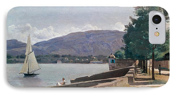 The Quai Des Paquis In Geneva IPhone Case by Jean Baptiste Camille Corot