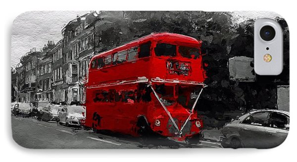 The Red Bus IPhone Case by Steve K