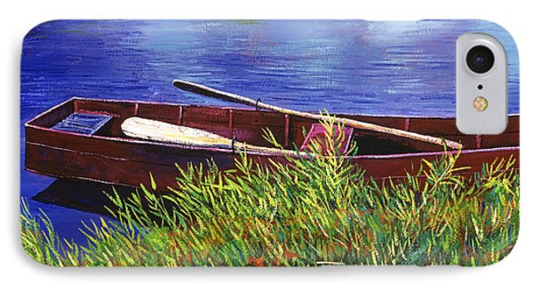 The Red Rowboat IPhone Case by David Lloyd Glover