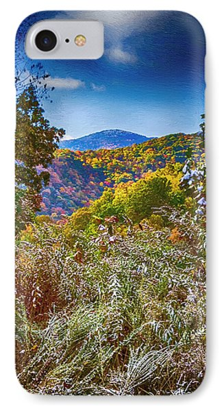 The Road To Cataloochee On A Frosty Fall Morning Phone Case by John Haldane