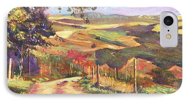 The Road To Tuscany IPhone Case by David Lloyd Glover