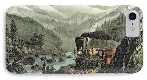 The Route To California IPhone Case by Currier and Ives