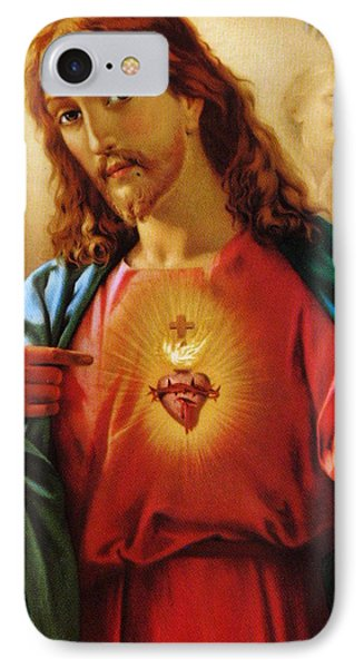 The Sacred Heart Of Jesus Phone Case by French School