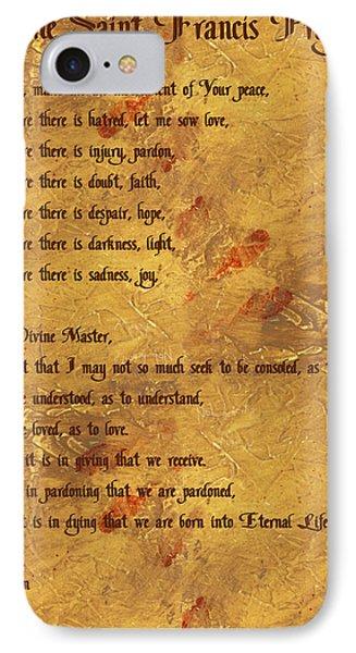 The Saint Francis Prayer IPhone Case by Philip Ralley