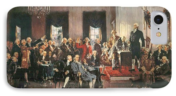 The Signing Of The Constitution Of The United States In 1787 IPhone 7 Case by Howard Chandler Christy