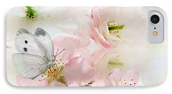 The Silent World Of A Butterfly Phone Case by Morag Bates