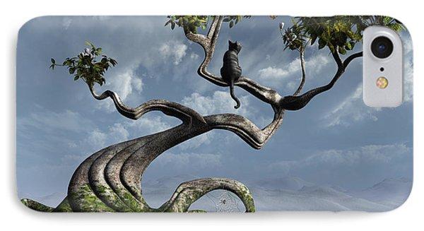 The Sitting Tree Phone Case by Cynthia Decker